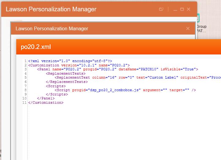 PO20.2 Personalization XML